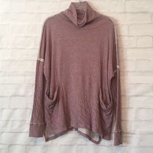 Free People turtle neck long sleeve top blouse